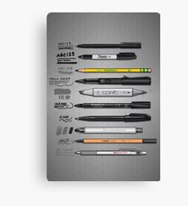 Pen Collection For Sketching And Drawing Canvas Print
