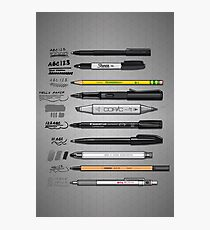 Pen Collection For Sketching And Drawing Photographic Print