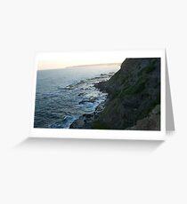 Bogey hole cliffs, Newcastle, NSW. Australia.2 Greeting Card
