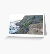 Bogey hole cliffs, Newcastle, NSW. Australia.3 Greeting Card