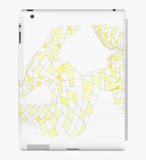 Geometric landscape yellow drawing iPad Case/Skin