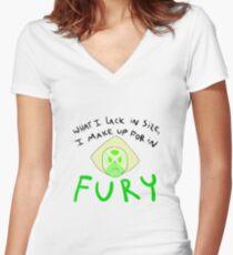 Fury - Peridot Women's Fitted V-Neck T-Shirt