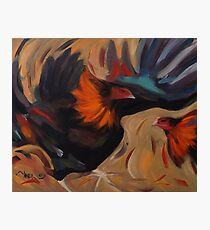 Clash - Rooster Painting Photographic Print