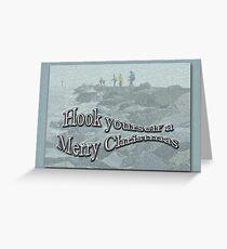Jetty Fishing Christmas Card Greeting Card