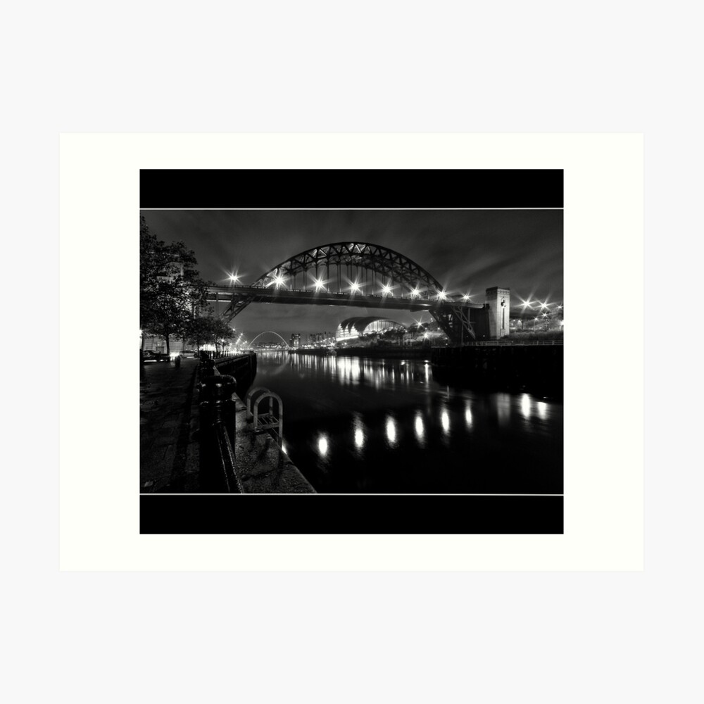 River Tyne Night Shot, Newcastle Upon Tyne Art Print
