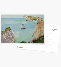 Freshwater Bay IOW, by John Rees Postcards