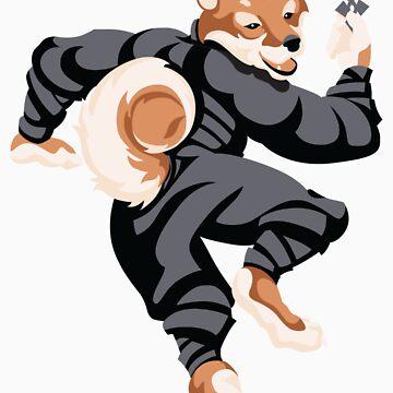 Shiba Inu Ninja by MimsySherry