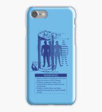 Teleporter Warning Label Shirt iPhone Case/Skin