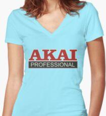 Akai Professional Women's Fitted V-Neck T-Shirt