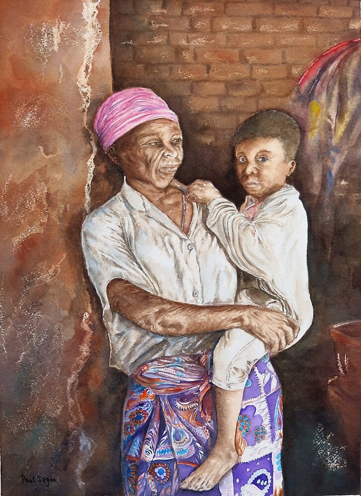 Mother and son by Paul Sagoo by HurstPainters