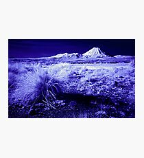 Mt Ngauruhoe, Infrared Photographic Print
