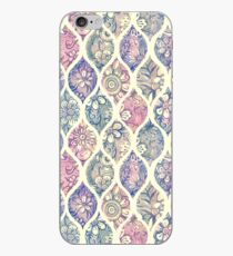 Patterned & Painted Floral Ogee in Vintage Tones iPhone Case