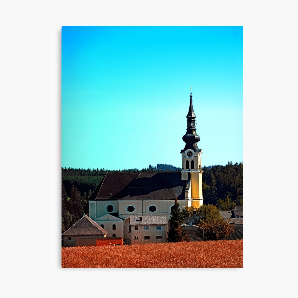 The village church of Reichenthal 2 Canvas Print