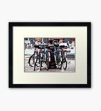 Dutch Bicycles Framed Print