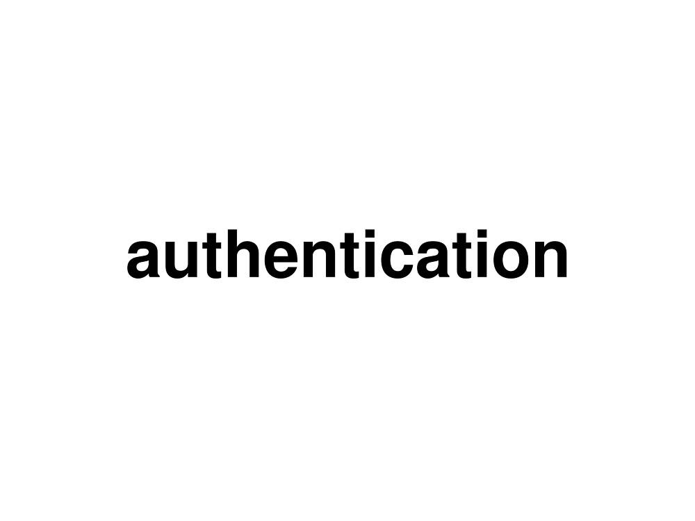 authentication by ninov94