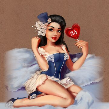 Girl 24 | (Your best Gil Elvgren) Pinup by EricaNR