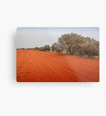Outback red dirt road Metal Print