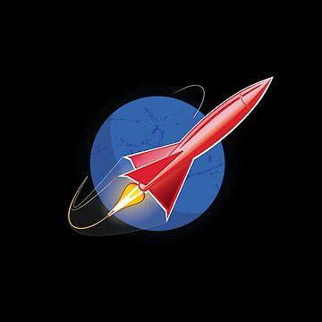 Red Rocket Blues by ianlaverart