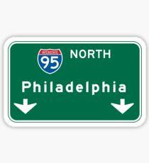Philadelphia, PA Road Sign, USA Sticker
