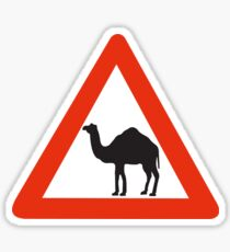 Caution Camels, Traffic Sign, United Arab Emirates Sticker