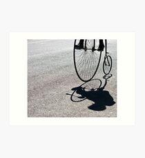 Penny-farthing shadow Art Print