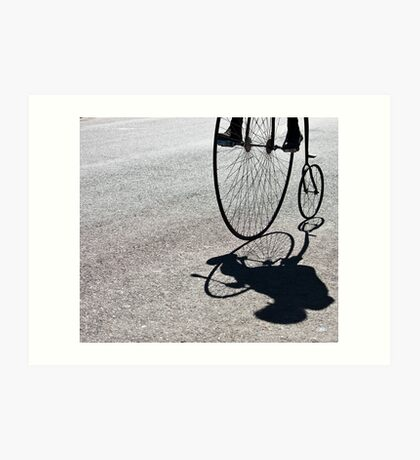 Penny-farthing shadow Art Print
