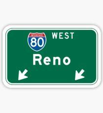 Reno, NV Road Sign, USA Sticker
