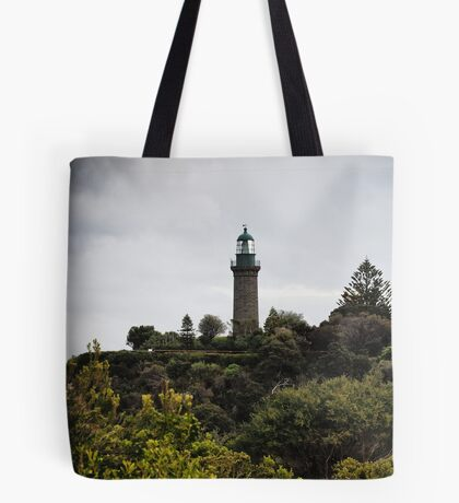 The Black Lighthouse Tote Bag