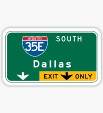 Dallas, TX Road Sign, USA Sticker