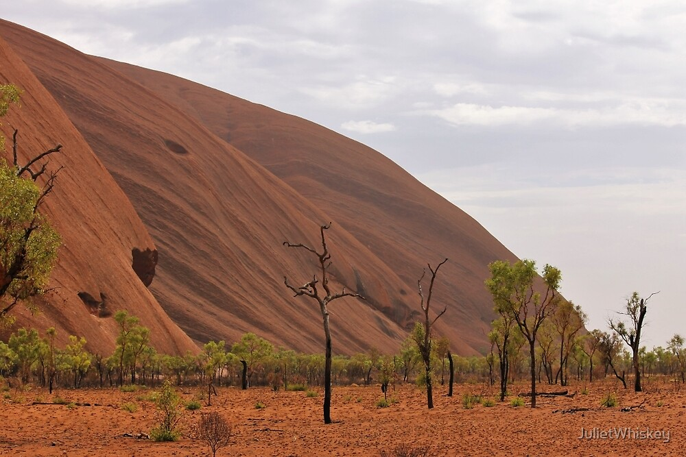 Uluru and trees by JulietWhiskey