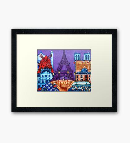 Wonders of Paris Framed Print