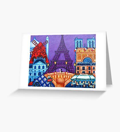 Wonders of Paris Greeting Card