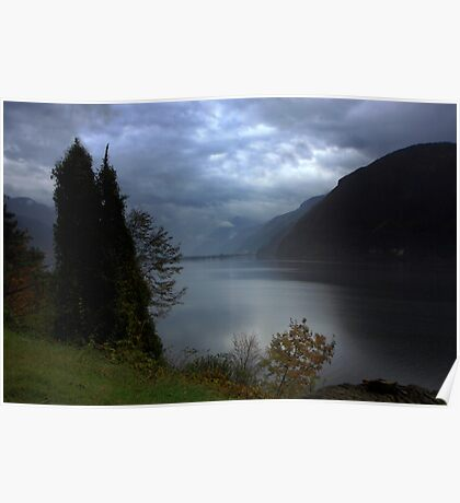 Rainy day on Lake Idro Poster