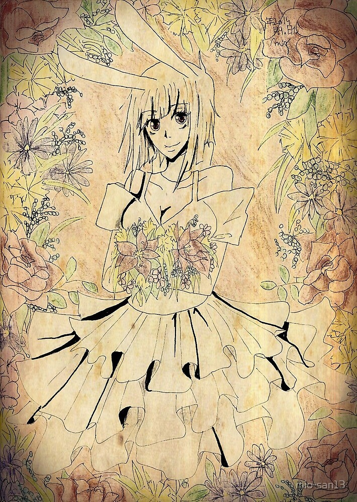 Rie Fumiko with  flowers by mio-san13