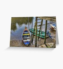 Boats in Tagus Affluent Greeting Card