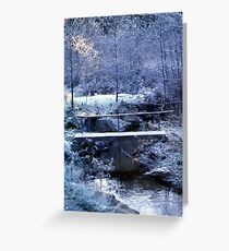 A frosty morning Greeting Card