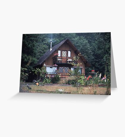 Grandma`s house in the Woods Greeting Card