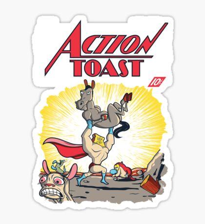 Action Toast Sticker