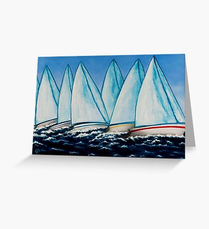 Regatta Blue Greeting Card