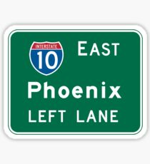 Phoenix, AZ Road Sign, USA Sticker