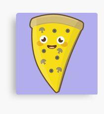 Kawaii Pizza Canvas Print