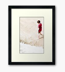 Dancing at the waters edge Framed Print