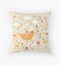 Party Chickens  Throw Pillow