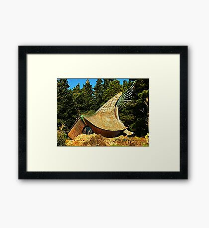 Prayer Chapel, Sea Ranch, California Framed Print