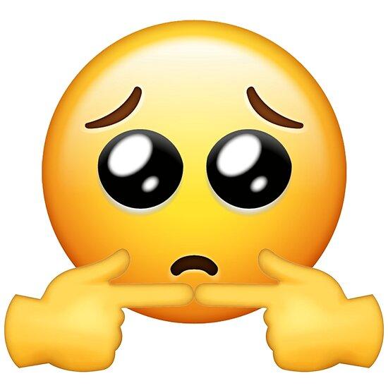 Shy Hand Emoji Posters | Redbubble