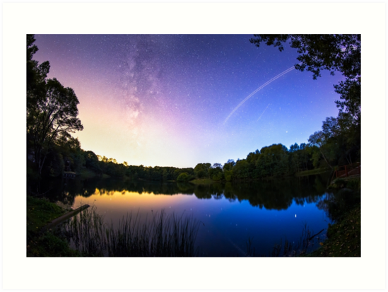 Blue hour Milky Way by MartijnKort