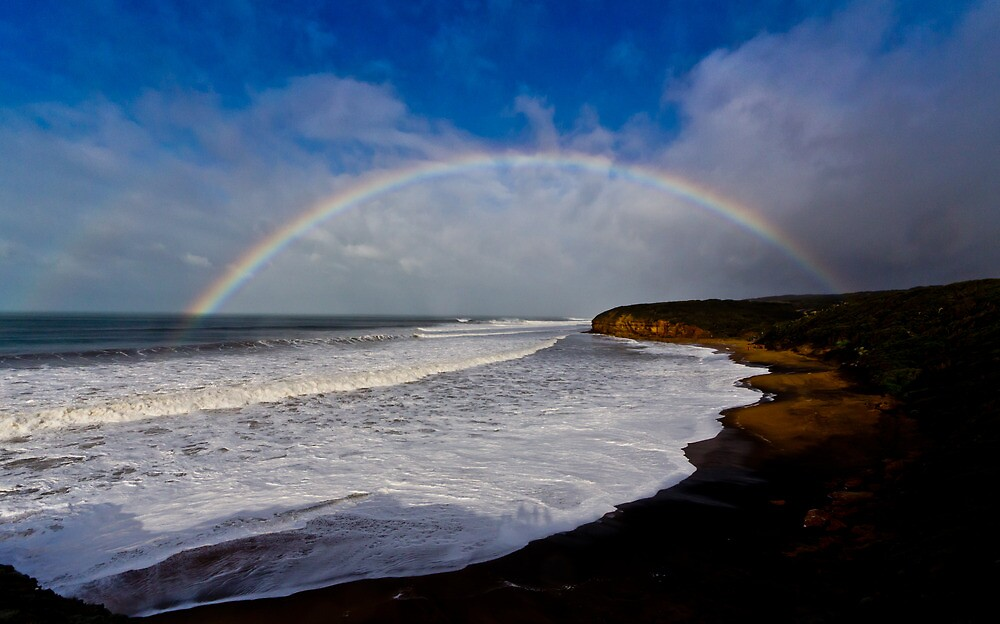 Bells Beach Rainbow by Russell Charters