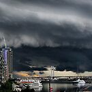 Mothership over Henry Bolte bridge by Robyn Lakeman