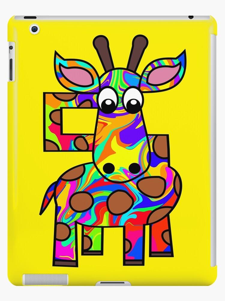 Colorful Giraffe by ChrisButler