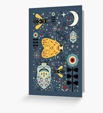 Midnight Bugs Greeting Card